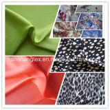 Poliestere Crepe Georgette Spandex chiffon Satin Fabric con Printed per Dress Fabric