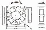 작은 강력한 12V 24V 70X70X25mm DC 팬