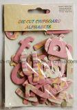 Die Cut alfabetos de aglomerado de madera aglomerada / Cartas