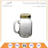 Consumo de vidro caneca com pega, Vidro Mason bebendo misturador