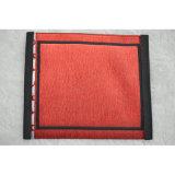 의류를 위한 간단한 빨간색 길쌈된 직물 레이블