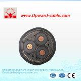 Cable eléctrico aislado alto voltaje de la potencia de XLPE para de acero cobreado inoxidable