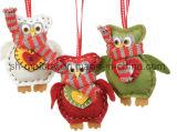 De Gevoelde Uilen van Kerstmis van de Decoratie van Kerstmis DIY Ornament