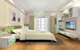 戸棚のワードローブ(zy-003)の寝室の家具の純木の歩行