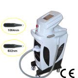 Nuevas tecnología y alta calidad 1064/532nm, máquina larga portable del retiro del pelo del laser del pulso del ND YAG con la refrigeración por agua excelente (MB1064)