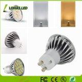 L'énergie de l'enregistrement 4W GU10 haut de l'IRC LED spotlight ampoule au plafond