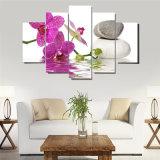 Искусствоа стены холстины искусствоа стены картины цветка орхидеи золота картины холстины изображений PCS печати 5 HD изображение декоративного модульное