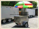 De mobiele Aanhangwagen van de Hotdog voor Verkoop