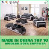 最新の現代居間セットの本革のソファー