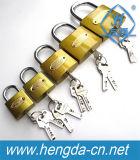 Yh1257 verrou de sécurité de cadenas en laiton trempé avec deux clés