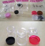 Mini recipiente cosmético transparente da caixa plástica do potenciômetro com tampas