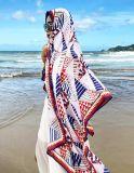 패턴을%s 가진 여행 바닷가 스카프는 약하게 디자인한다