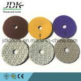 4 polegadas de resina de diamante para polimento de 3 etapas do granito