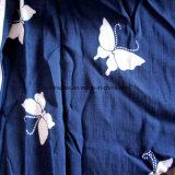 Planície de alta qualidade 60s Imprimir Tecido Viscose Vestido para a mulher
