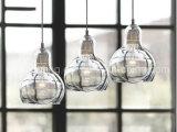 Mini luz de suspensão simples moderna do pendente do bulbo de vidro da iluminação para a decoração da cozinha