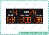 Voyant rouge de basket-ball de tableau de bord électronique avec affichage de la temporisation et l'intérieur Shot Clock