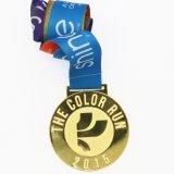 De aangepaste Medaille van de Marathon van de Legering Znic Goud Geplateerde