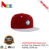 Fornecedor da cadeia de televisão personalizado ODM Bordados Coroa Vermelha vertida Snapback Branco Chapéus