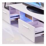 Les étagères à LED 2 tiroirs de meubles de la console support TV Cabinet de l'unité