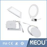 Plafonnier économiseur d'énergie de 6W 480lm DEL pour la chambre à coucher de bureau