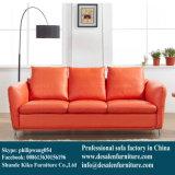 Sofa en cuir du nord de l'Europe d'arrivée neuve pour l'usage de maison et de bureau (Q1710)