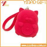 Saco feito sob encomenda dos desenhos animados do logotipo do saco da bolsa da moeda do silicone (XY-CP-168)