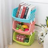 Hogar creativo simple colorida Canasta de almacenamiento de verduras frutas multifunción