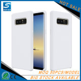 고품질 최신 판매 Samsung 주 8을%s 액체에 의하여 주문을 받아서 만들어지는 실리콘 내진성 전화 상자