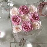 Kundenspezifischer Acrylblumen-Kasten wasserdicht mit Kappe