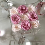 고품질 뚜껑에 방수 주문 친절한 아크릴 꽃 상자
