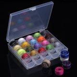 Lados Pre-Wound bobinas de plástico de poliéster Thread em diferentes cores 25 bobinas na caixa