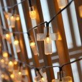 28ft/50 LED LED Solar LED de luces las luces de la cadena de la Cruz para pasar las vacaciones, IP44 blanco cálido/frío blanco/Bule/RGB