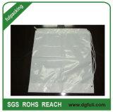 Sac à dos Sacs de plastique blanc coulisse, Sports Polybag, Logo de Marque Sac imprimé