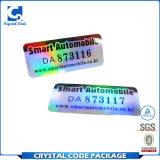 Étiquette estampée personnalisée de collant d'hologramme d'authenticité