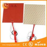 De flexibele Elektrische RubberVerwarmers van het Silicone met de Kleefstof van 3m