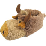 Sapatas animais do brinquedo da vaca peludo macia morna