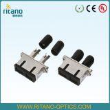 金属を使用するFTTHの解決のためのシングルモードデュプレックス光ファイバStのアダプター