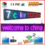 Il calcolatore esterno WiFi del USB di colore completo P10 stampa per la visualizzazione di LED di media di pubblicità