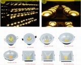 techo ahuecado 20W LED Downlight de la MAZORCA para comercial usado (AW-TD036B-6F-20W)