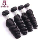 ブラジルのバージンのRemyの毛の織り方の倍は人間の毛髪の弾力があるカールの織り方を浸す