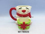 De de ceramische Koffie van de Sneeuwman/Mok van de Thee voor de Decoratie van Kerstmis