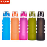 Il nuovo arrivo BPA pieghevole libera la bottiglia di acqua del filtrante del silicone