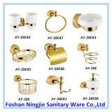 Alto hardware de cobre amarillo del cuarto de baño del sostenedor del papel de estante de toalla de Qulaity