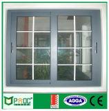 Finestra di scivolamento di alluminio di Pnoc080816ls con il disegno della griglia