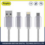 3 in 1 collegare del caricatore di dati del cavo del USB per il telefono mobile