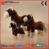 Juguete suave animal relleno realista de la felpa del caballo de ASTM para los cabritos
