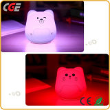 다채로운 귀여운 실리콘 가정 훈장 LED 점화를 위한 동물성 Portable LED 밤 빛
