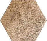 Série de madeira sextavada Porcelai Azulejos do piso de vidro
