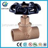 Válvula de batente quente do ângulo do bronze da venda 2017 com a válvula de batente de bronze do controle do ISO/