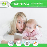Hypoallergenic Bett-Programmfehler-Vinylfreie weiße imprägniern Baby-Krippe-Matratzeencasement-Qualität 100%